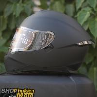 Mũ bảo hiểm Fullface YOHE 967 2 kính (2018) (đen nhám) (Size: M/L/XL)