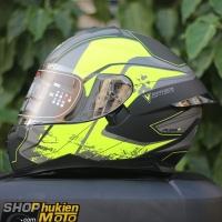 Mũ bảo hiểm Fullface YOHE 967 2 kính (201 (vàng/ đen nhám) (Size:/M/L/XL)