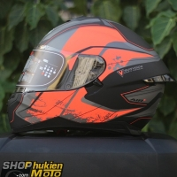 Mũ bảo hiểm Fullface YOHE 967 2 kính (2018) (Cam/đen nhám) (Size: M/L/XL)