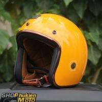 Mũ bảo hiểm 3/4 ROYAL M20C Vintage (Vàng bóng)