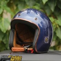 Mũ bảo hiểm 3/4 ROYAL M20C Vintage (Xanh đậm bóng)