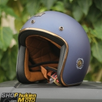 Mũ bảo hiểm 3/4 ROYAL M20C Vintage (Xanh đậm nhám)