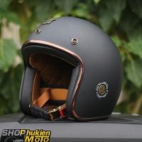 Mũ bảo hiểm 3/4 ROYAL M20C Vintage (đen nhám)