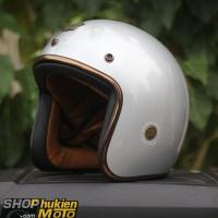 Mũ bảo hiểm 3/4 ROYAL M20C Vintage (Bạc bóng)