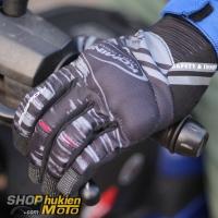 Găng tay Komine GK-219 (Đen/xám) (Size: M/L/XL/XXL)