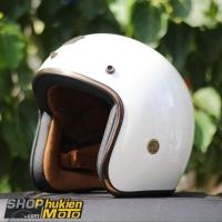 Mũ bảo hiểm 3/4 ROYAL M20C Vintage (trắng bóng)