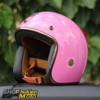 Mũ bảo hiểm 3/4 ROYAL M20C Vintage (hồng bóng)