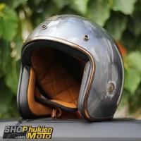 Mũ bảo hiểm 3/4 ROYAL M20C Vintage (xám bóng)