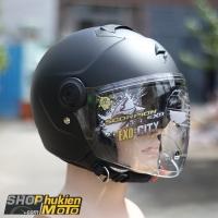 Mũ bảo hiểm 3/4 scorpion exo city solid (đen nhám) (Size: M/L/XL)