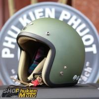 Mũ bảo hiểm 3/4 AVEX Xtreme Thái Lan (Xanh lính nhám)