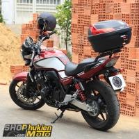 Gắn thùng sau GIVI cho xe Honda CB400 Super Four (gồm: Thùng GIVI B37N và Baga)