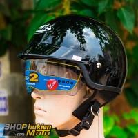 Mũ bảo hiểm 1/2 HJC IS-2 (Đen bóng) (size M/ L/XL)
