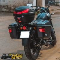 Lên thùng GIVI cho xe GPX legend 150cc (gồm: Baga, Thùng GIVI B27N và E22N)
