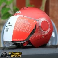 Mũ bảo hiểm 3/4 Sunda 621 (đỏ nhám) (size: L/XL)