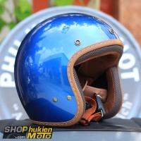 Nón 3/4 Sunda 390 (xanh bóng)