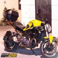 Gắn thùng GIVI cho xe Ducati monster 821 (gồm: thùng GIVI B37NT + Baga)