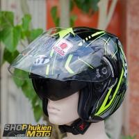 Mũ bảo hiểm 3/4 KYT VENOM (Arrow) (Size: L/XL)