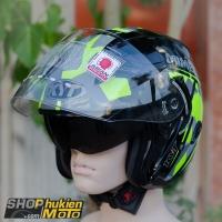 Mũ bảo hiểm 3/4 KYT VENOM (MIMETIC YELLOW GLOSS) (Size: L/XL)