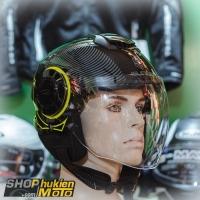 Mũ bảo hiểm 3/4 Sunda 227 (đen vàng bóng) (size: L/XL)