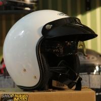 Nón bảo hiểm 3/4 Sunda 388 ( trắng bóng )