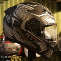 Nón KYT Falcon Black Panther ( Size: M,L,XL,2XL )