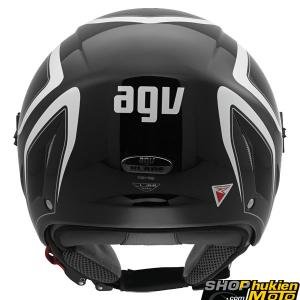 Mũ Bảo Hiểm 3/4 AGV Blade chuẩn DOT (đen/ trắng) (size: M/ XL)