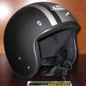 Mũ bảo hiểm Andes đen nhám sọc bạc