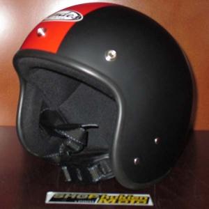Mũ bảo hiểm Andes đen nhám sọc đỏ