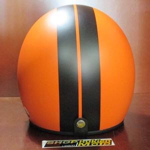 Mũ bảo hiểm dammtrax màu cam sọc đen nhám