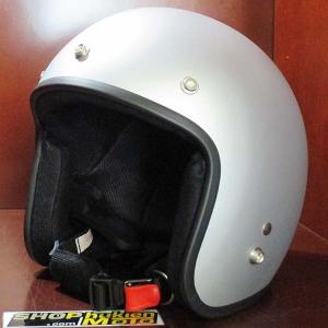 Mũ bảo hiểm 3/4 Dammtrax (bạc nhám)