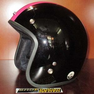 Mũ bảo hiểm dammtrax đen bóng sọc hồng