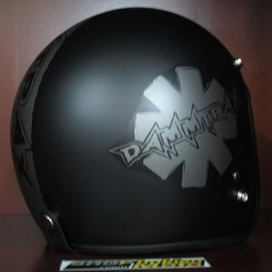 Mũ bảo hiểm 3/4 Dammtrax (Viền Dammtrax sọc khối)
