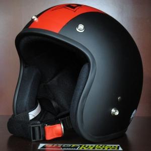 Mũ bảo hiểm 3/4 Dammtrax (Viền Dammtrax đỏ)
