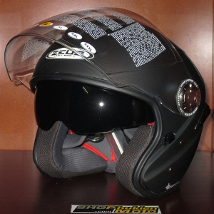 Mũ bảo hiểm 2 kính Zeus 608A đen nhám