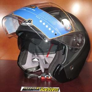 Mũ bảo hiểm 3/4 HJ IS-33 chuẩn ECE (đen nhám)