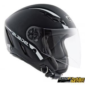 Mũ Bảo Hiểm 3/4 AGV Blade chuẩn DOT (đen nhám sọc trắng) (size: L/ XL)