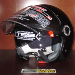 Mũ bảo hiểm 3/4 LS2 2 kính (đen/ nhám)
