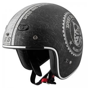 Mũ bảo hiểm 3/4 cafe racer Speed & Strength - SS600 (chuẩn DOT) (đen nhám/ khối)
