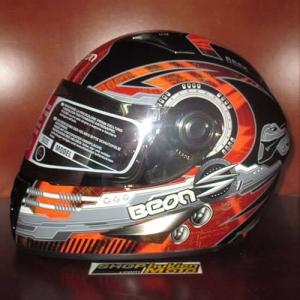 Mũ bảo hiểm fullface Beon (cam đậm/ đen bóng)