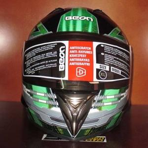 Mũ bảo hiểm fullface Beon (Xanh/ đen bóng)