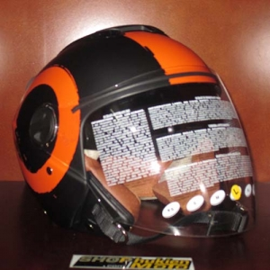Mũ bảo hiểm 3/4 2 kính Bulldog Arty cam đen nhám (size: M/ L/ XL)