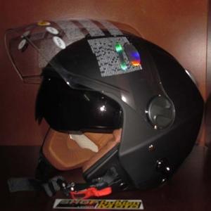 Mũ bảo hiểm 3/4 2 kính Bulldog đen nhám (size: M/ L/ XL)