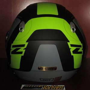 Mũ bảo hiểm 3/4 2 kính Bulldog đen xanh xám nhám (size: M/ L/ XL)