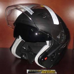 Mũ bảo hiểm 3/4 2 kính Astone RS A3 (đen nhám) (size: L/ XL)