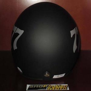 Mũ bảo hiểm 3/4 Dammtrax (đen nhám 3 số 777)