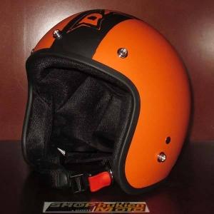 Mũ bảo hiểm 3/4 Dammtrax (cam nhám sọc dammtrax)