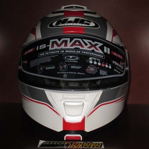 Mũ Bảo Hiểm Lật Cằm (Flip up) HJC IS - Max II (Trắng Đỏ/ Nhám) (size: L/XL)