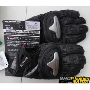 Găng tay Komine GK-144 (đen) (size: L/XL)