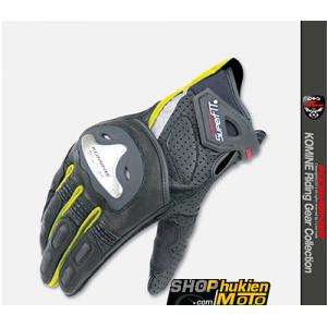 Găng tay Komine GK-144 (đen/xanh) (size: L/XL)