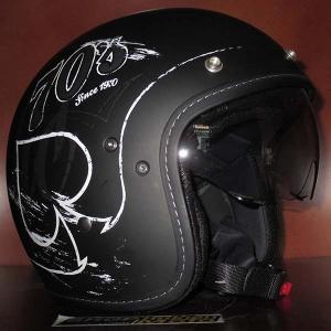 Mũ cafe racer 3/4 HJC FG 70s (Rocker đen) (size: L/ XL)